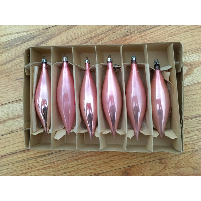 Image of Pink Teardrop Ornaments - Set of 6