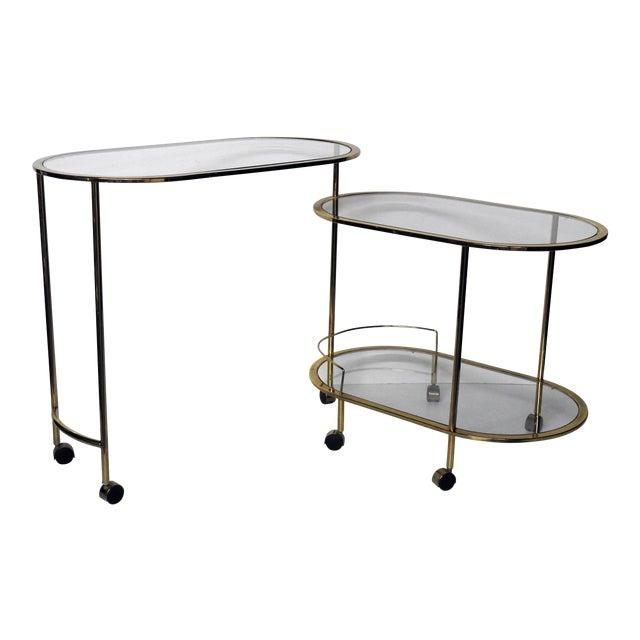 Mid-Century Modern Bar Cart Or Cocktail Table