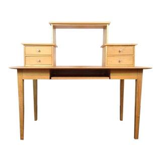 Crate & Barrel Contemporary Oak Computer Desk