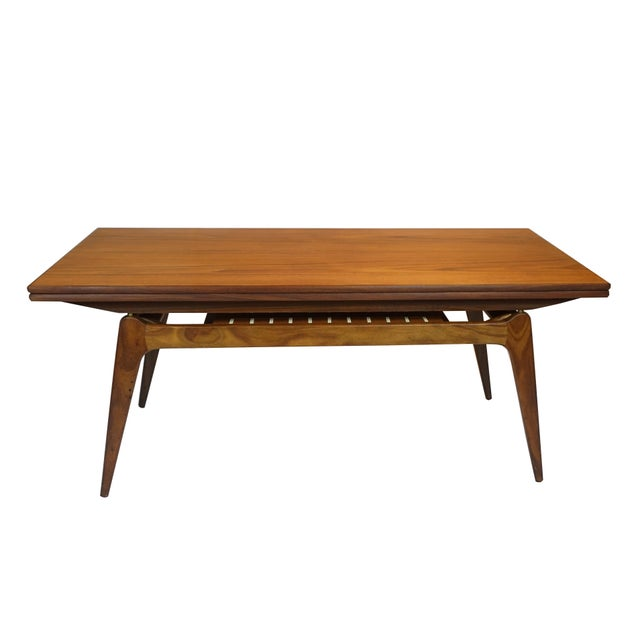 Copenhagen elevating coffee dining table chairish for Elevating coffee table