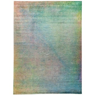 "Vibrance Over Dyed Hand Knotted Area Rug - 9'3"" X 12'2"""