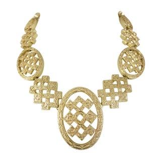Vintage Huge  Gold Tone   Christian Dior  Necklace