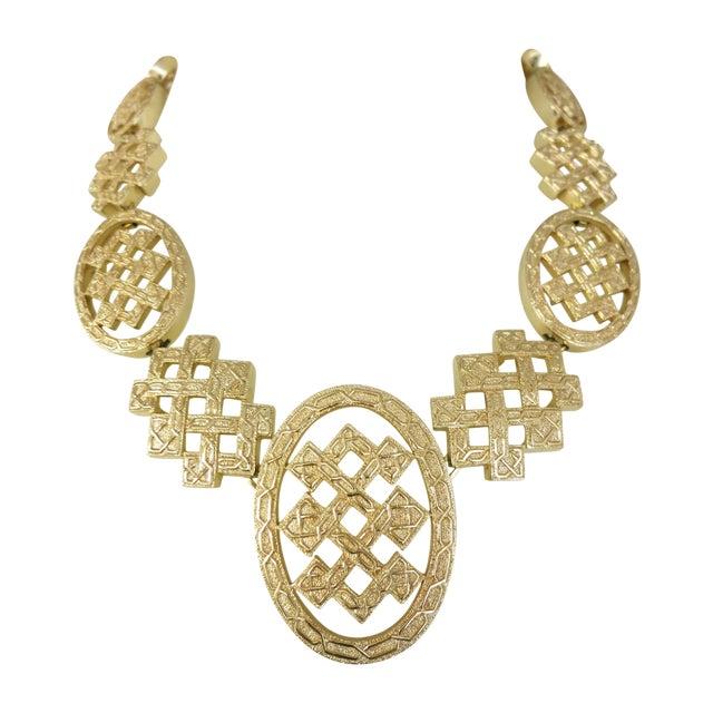 Image of Vintage Huge  Gold Tone   Christian Dior  Necklace