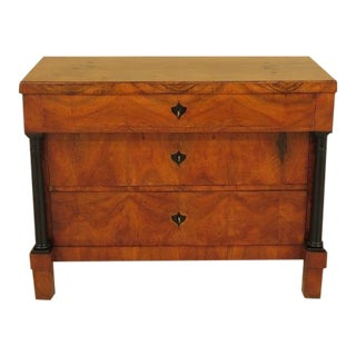 Antique Biedermeier 3 Drawer Commode Chest