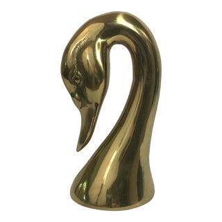 Brass Swan Head