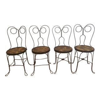 Vintage Ice Cream Parlor Chairs- Set of 4