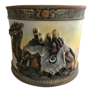 Nippon Molded Camel Kneeling Porcelain Humidor