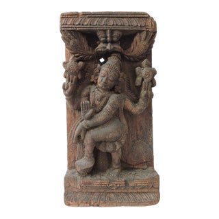 High Relief Hindu Goddess Carving