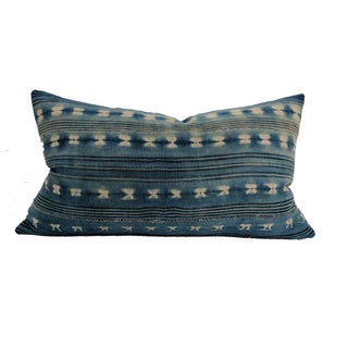 Vintage Indigo Mudcloth Pillow | Flynt 14x24