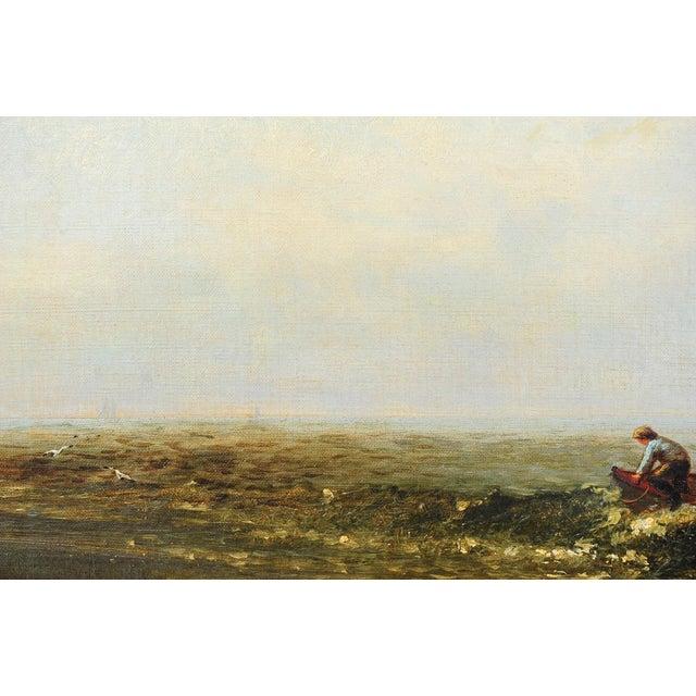 """Harry J. Sunter 1880 """"Fishermen Offshore"""" Painting - Image 3 of 9"""