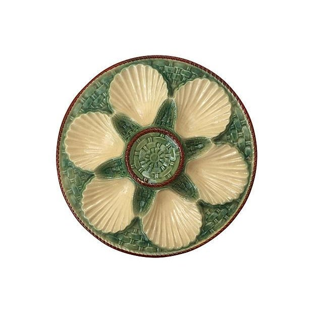 Image of French Green & Ivory Oyster Wall Plate