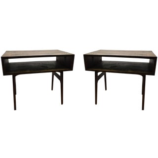 Wooden Side Tables - A Pair