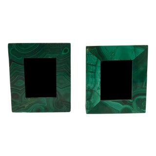 Green Malachite Picture Frames - A Pair