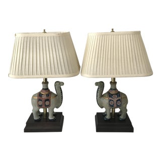 Frederick Cooper Camel Lamps - A Pair
