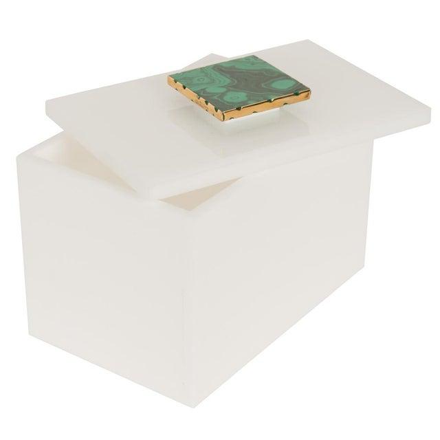 White Box With Malachite Top - Medium - Image 2 of 3