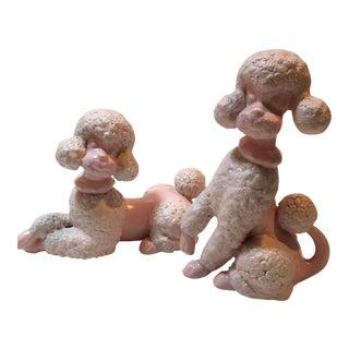 Mid Century Spaghetti Poodle Figurines - a Pair