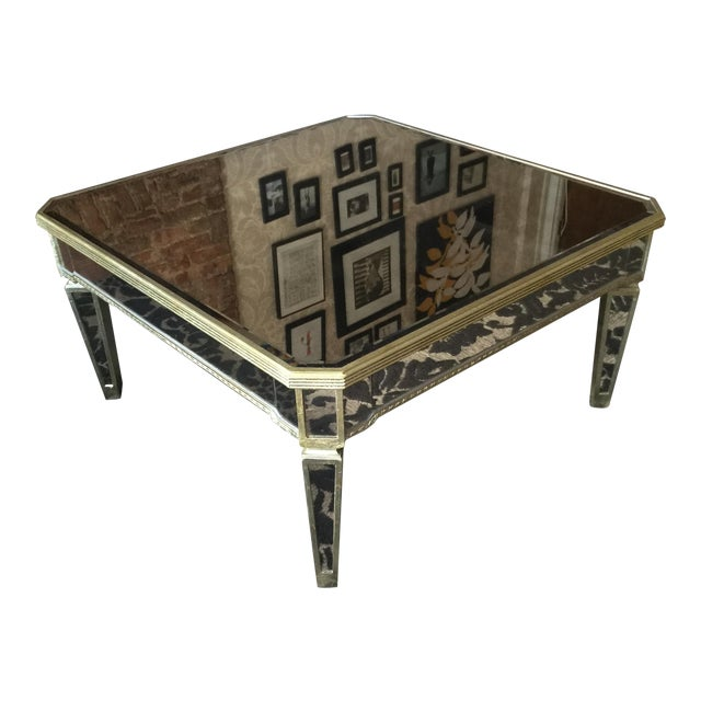 Horchow Mirrored Coffee Table - Image 1 of 3