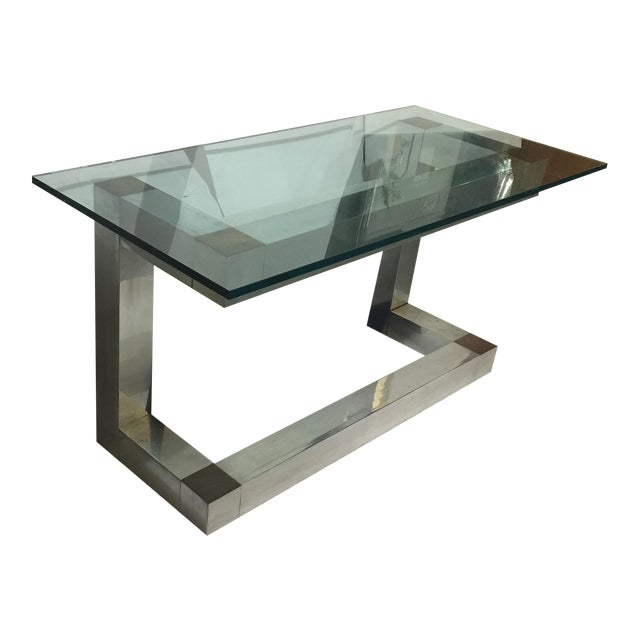 Vintage modern console table chairish for Table th width ignored
