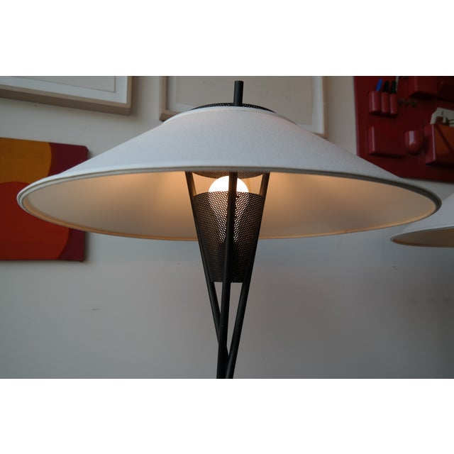 Gerald Thurston Tripod Floor Lamps- A Pair - Image 4 of 5
