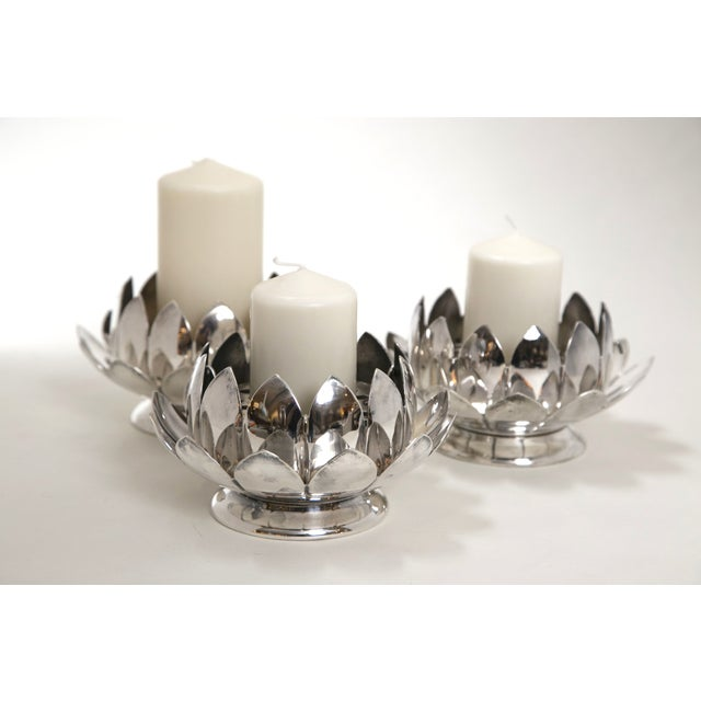 Reed & Barton Silver Flower Holders - Set of 3 - Image 2 of 7