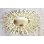 Image of Hollywood Regency Sunburst Convex Mirrors - Pair