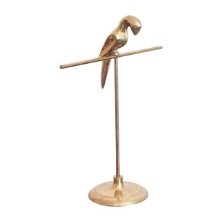 Brass Parrot Jewelry Display Stand