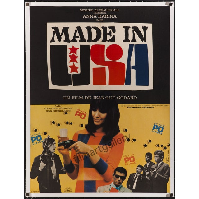 """""""Made in Usa"""" French Film Poster - Image 2 of 2"""