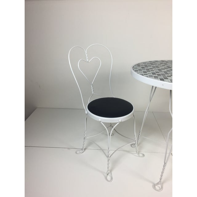 Vintage Restored Ice Cream Dining Set - Image 4 of 6