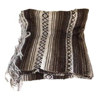Vintage Mexican Serape Throw