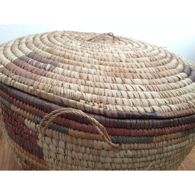 Large Hand Woven African Basket - Image 7 of 7