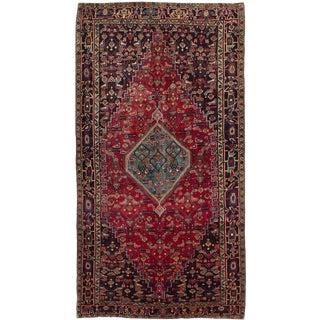 "Bijar Vintage Persian Rug, 5'0"" x 9'6"""