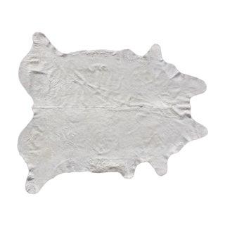 "Natural White Brazilian Cowhide - 6'4"" X 7'5"""