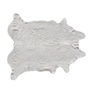 "Natural White Brazilian Cowhide - 6'4"" X 7'5"""