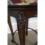 Image of Quality French Louis XV Style Swivel Bar Stool - 3
