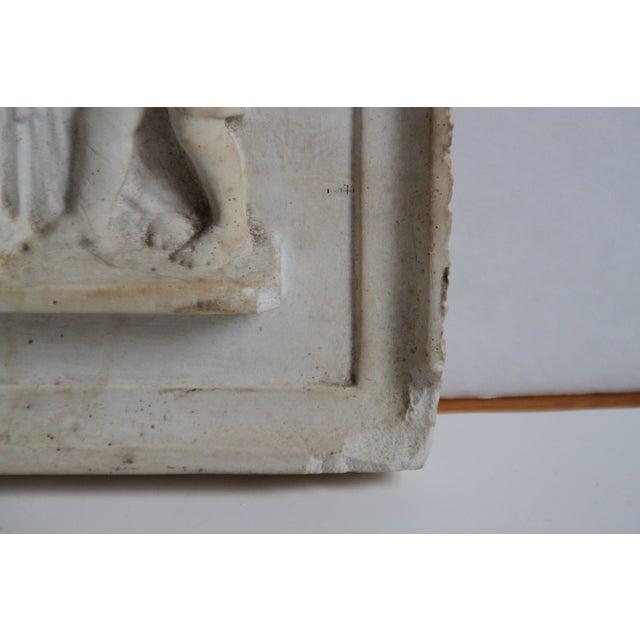 Neoclassical Plaster Relief Cherub Wall Art - Image 8 of 11