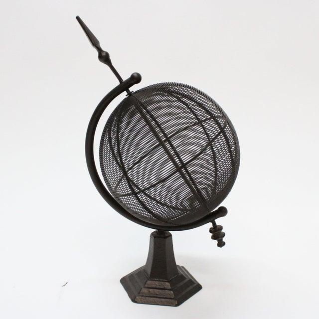 Black Metal Globe Sculpture Chairish