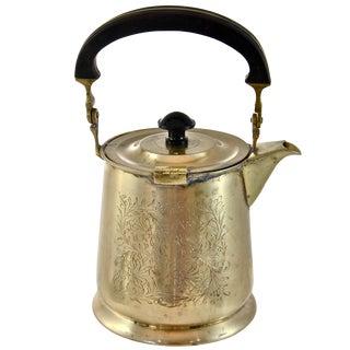 Engraved Brass Teapot