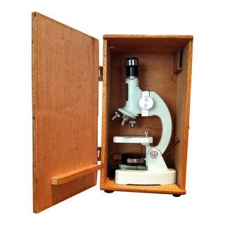 1960s Vintage Teal Microscope