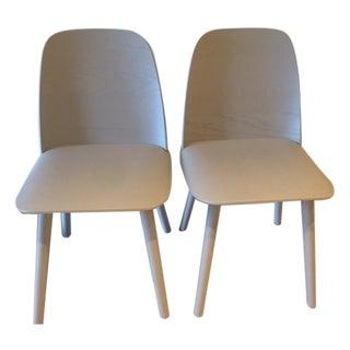 Gray Muuto Nerd Dining Chairs - a Pair