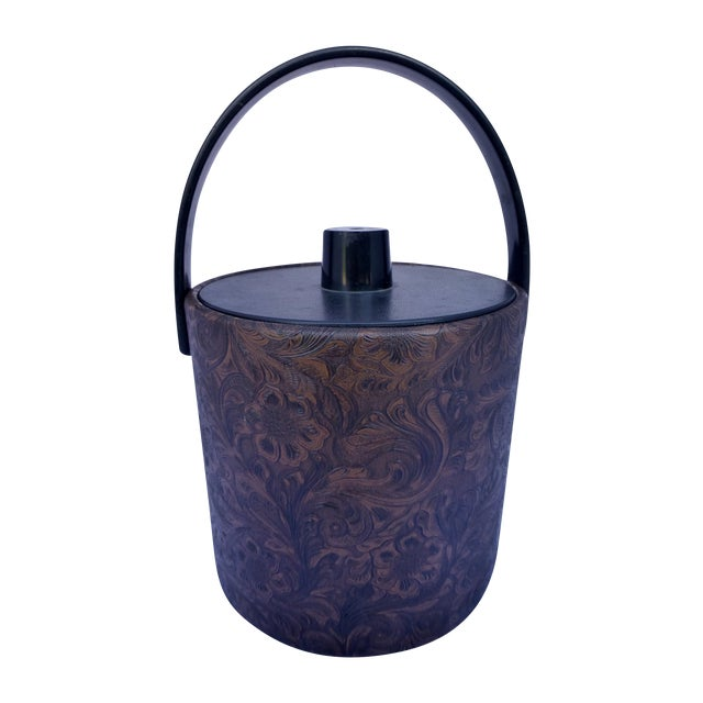 Image of Mid-Century Modern Floral Ice Bucket