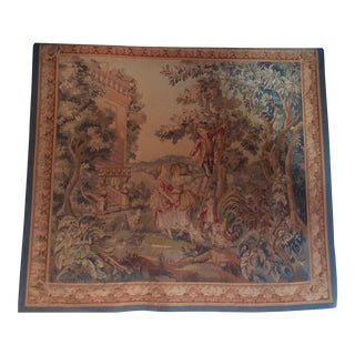 French Style Faux Aubusson Tapestry