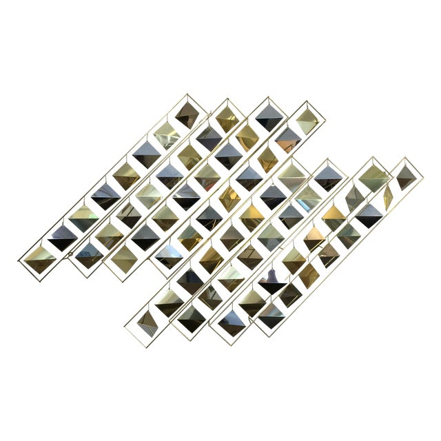 Curtis Jere Kinetic Brass Wall Sculpture - Image 1 of 9