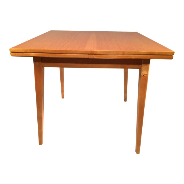 Risom-Style Birch Dining Table - Image 1 of 3