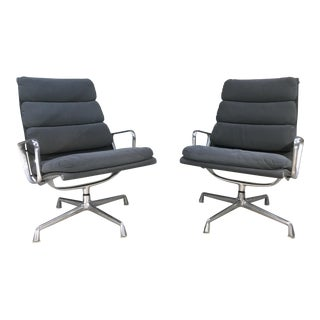 Herman Miller Soft Pad Aluminum Group Office Chairs - A Pair
