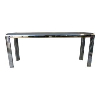 Chrome & Brass Finish Sofa Table