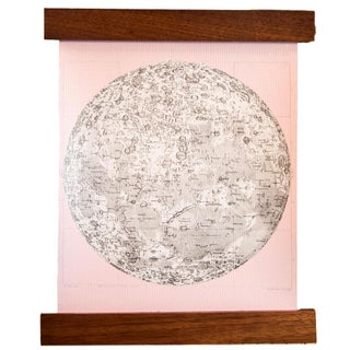 Ballerina Pink Mini Moon Chart Art Print Canvas