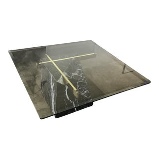 Artedi Nero Marquina Marble & Brass Coffee Table