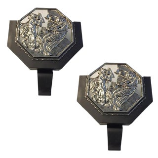 French Art Deco Illuminated Theater Sconces - A Pair