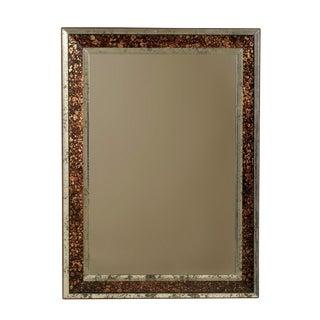 Vintage American Rectangular Mirror with Faux-Tortoise Églomisé Frame