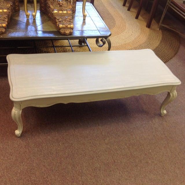 Soft Gray Cabriole Leg Coffee Table Chairish